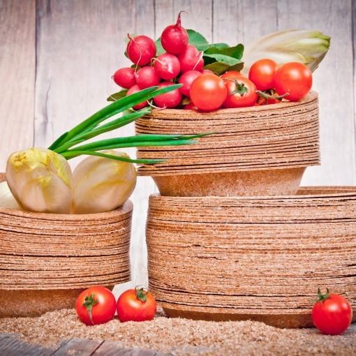 Biotrem wegwerpservies gemaakt van tarwezemelen