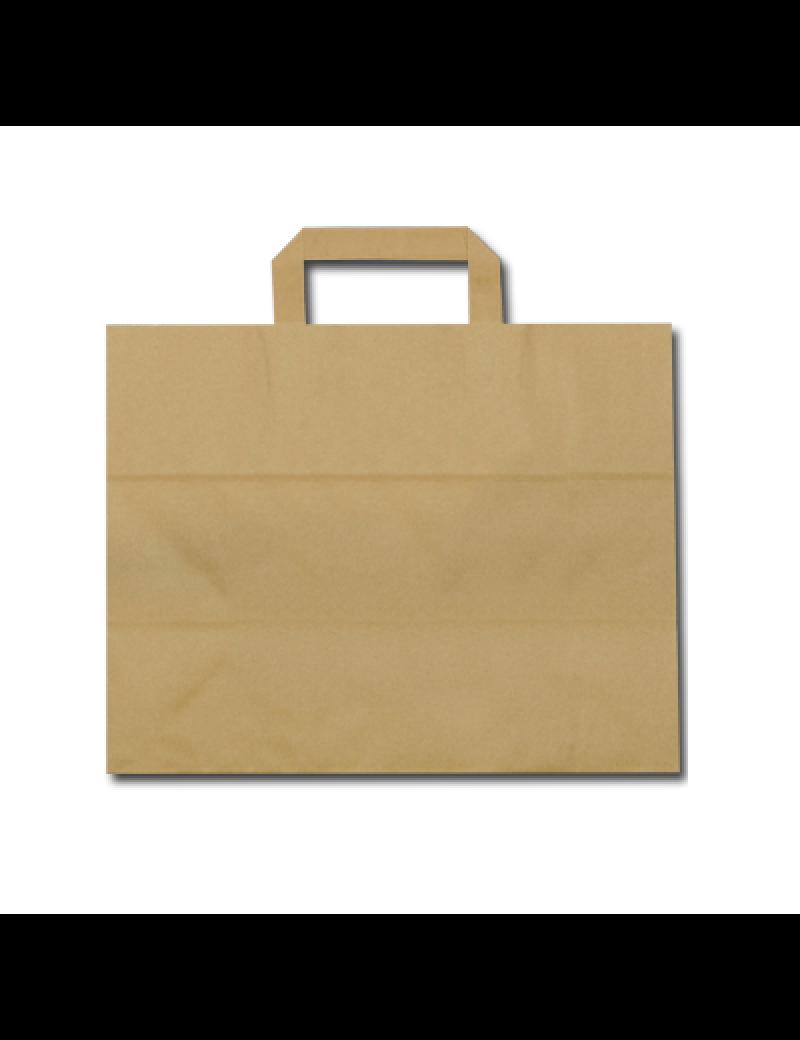 FSC® papieren blokbodemtas bruin middel