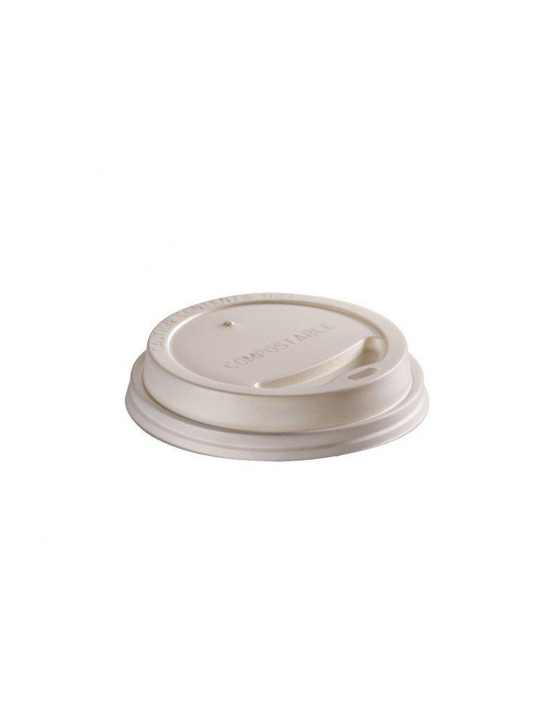 CPLA deksel wit 62mm Ø voor 1dl beker
