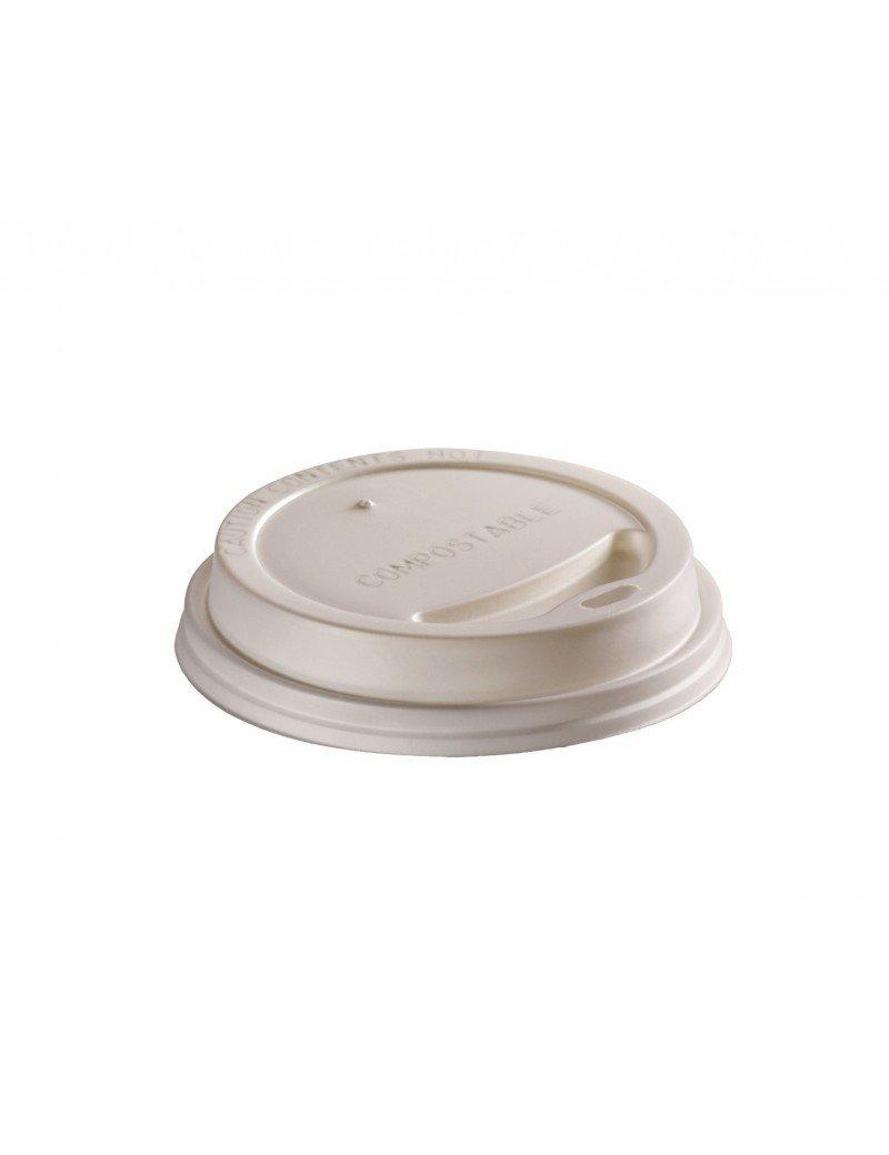 CPLA deksel wit 73mm Ø voor 1,8dl beker