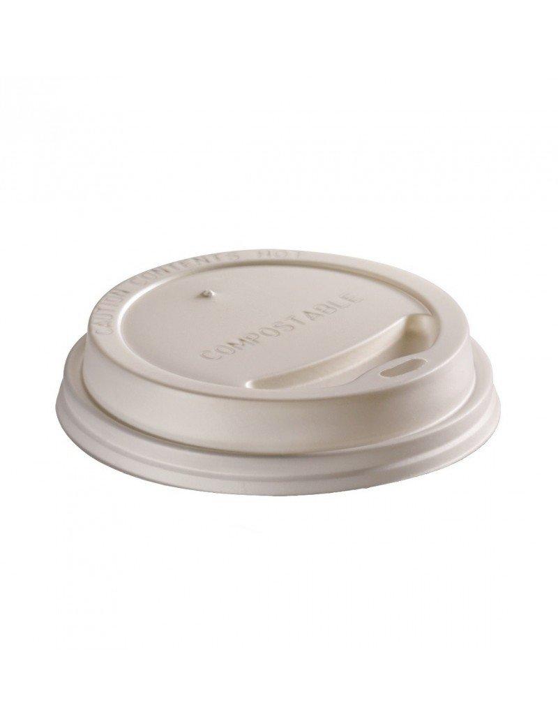 CPLA deksel wit 90mm Ø voor 3dl beker
