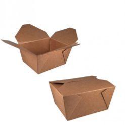 Kraft/PLA coated lunchbox 110x90x63cm