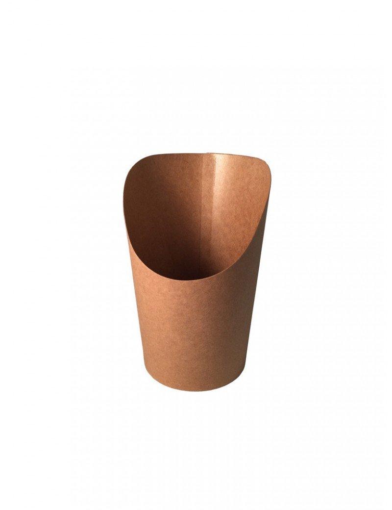 Kraft/PLA coated scoop cup 60mm Ø x 118mm