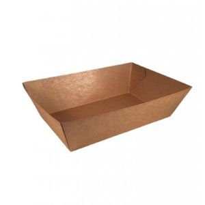 Kraft/PLA coated snackbakje 167x100x53mm A50