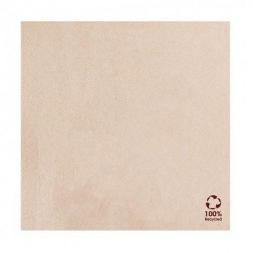 Servet gerecycled/ongebleekt 39x39cm ¼ vouw double point