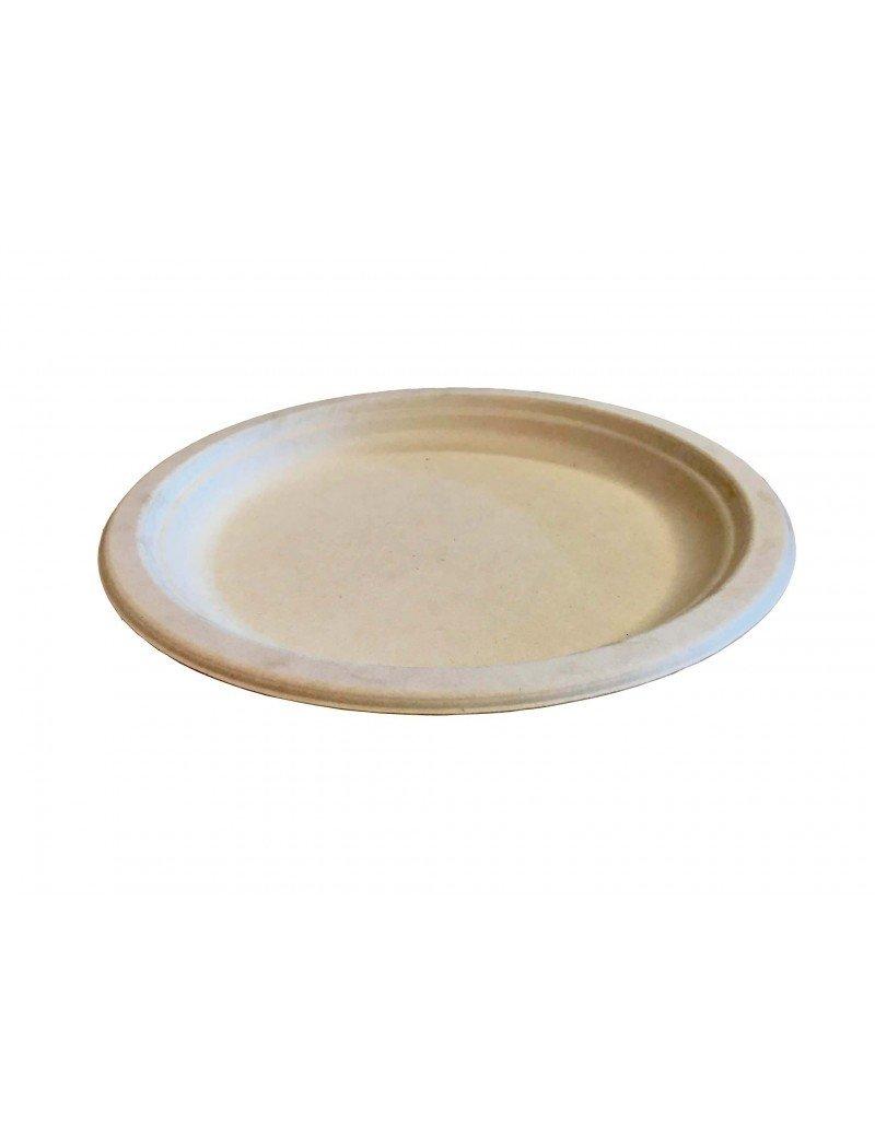 Suikerriet bord 26cm Ø bruin