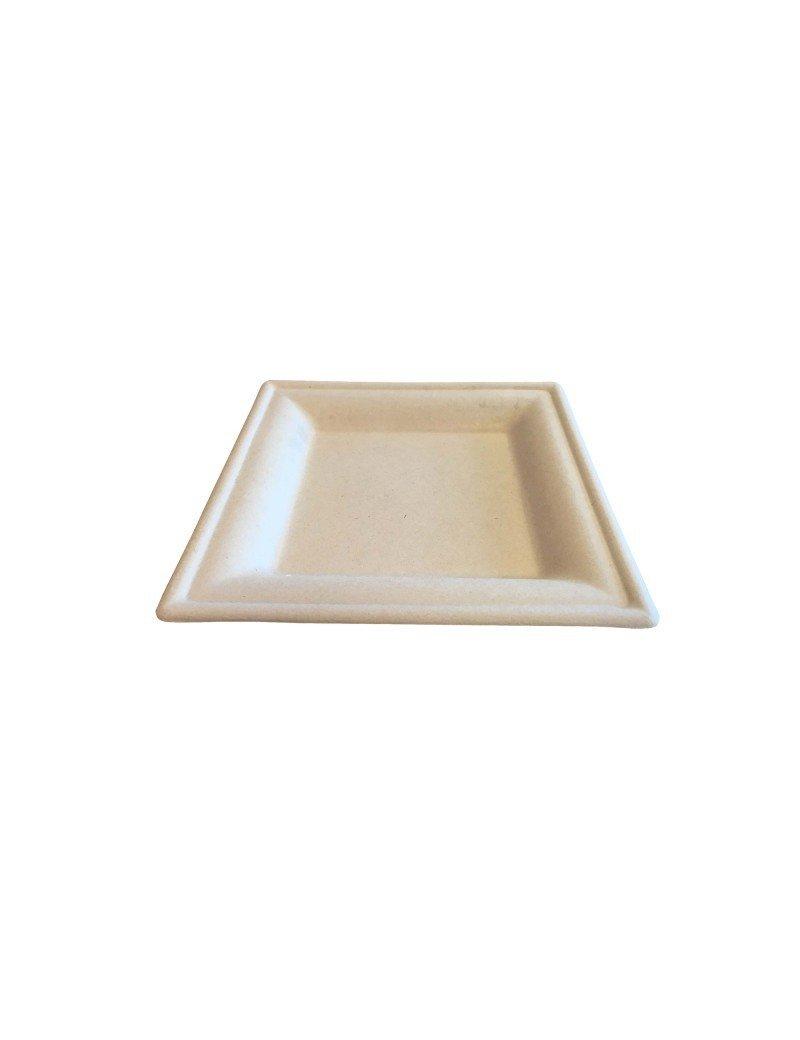 """Suikerriet bord """"Karo"""" 160x160x15mm bruin"""