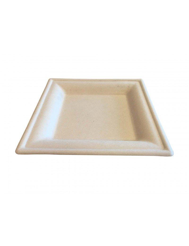 """Suikerriet bord """"Karo"""" 200x200x15mm bruin"""