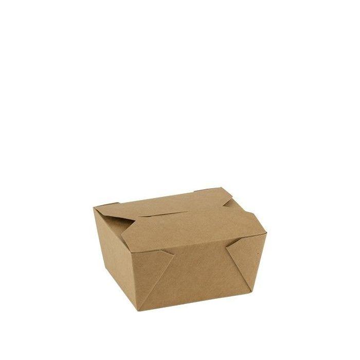 Kraft PLA coated lunchbox 750 ml 110x90x63mm