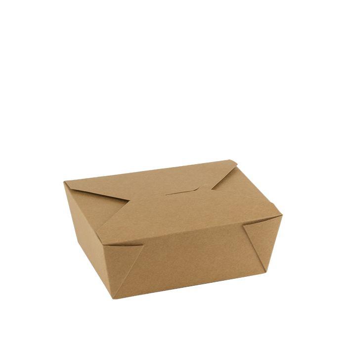 Kraft PLA coated take away box 1300ml 152x120x63mm