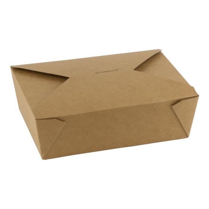 Kraft PLA take away box 1800ml 197x140x65mm