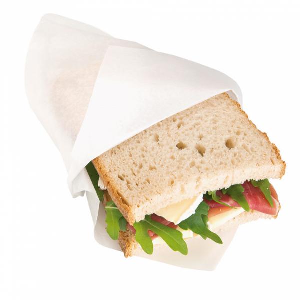 Sandwich zakje, 2 kanten open wit, 18 bij 18,2 cm broodjes (2)