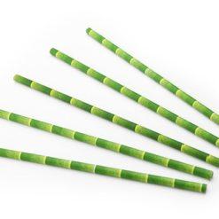 Bamboe drinkrietje bamboe look