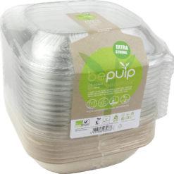 Suikerriet menubak met deksel 750 ml vierkant