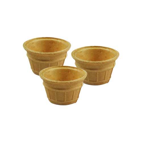 Eetbaar cupje of bakje voor saus of jam