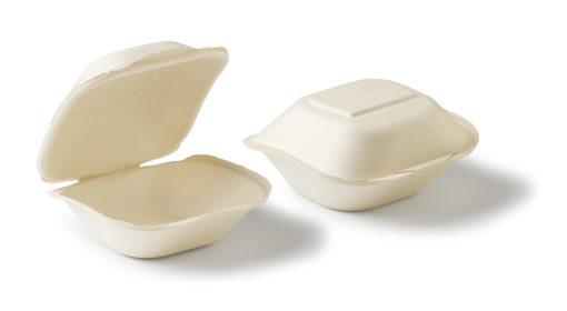 BioPack Clam shell BIOdisposables dicht en open
