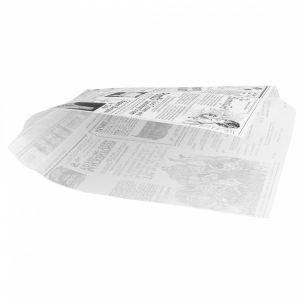 Vetvrij snackzakje krant wit 16 bij 16,5 cm met broodje (2)