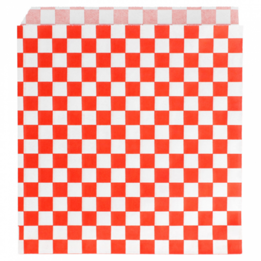Vetvrij snackzakje rood wit blok 16 bij 16,5 cm