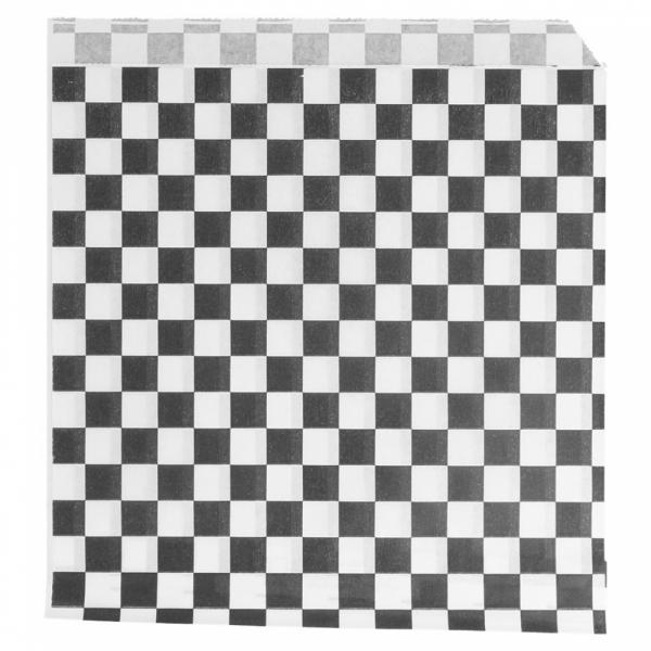 Vetvrij snackzakje zwart wit blok 16 bij 16,5 cm