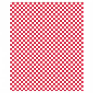 Vetvrij wikkelpapier rood blok 28x34cm