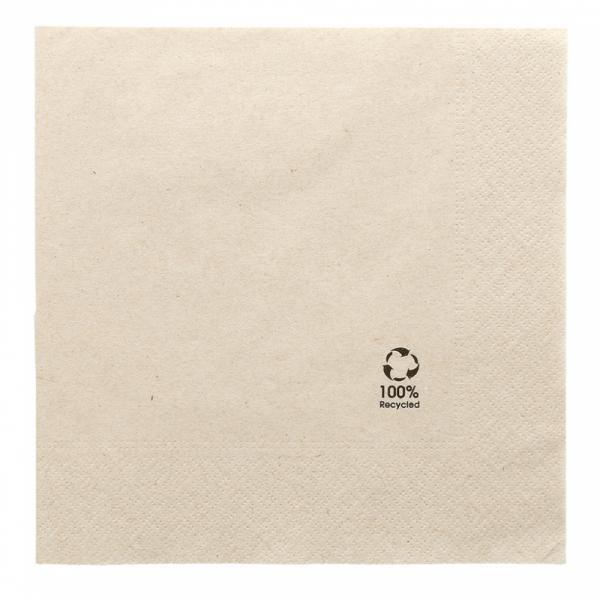 Servet gerecycled ongebleekt 39x39cm 2 laags