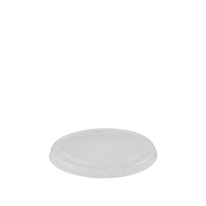 PLA deksel 75mm Ø voor foodcontainer 90 ml
