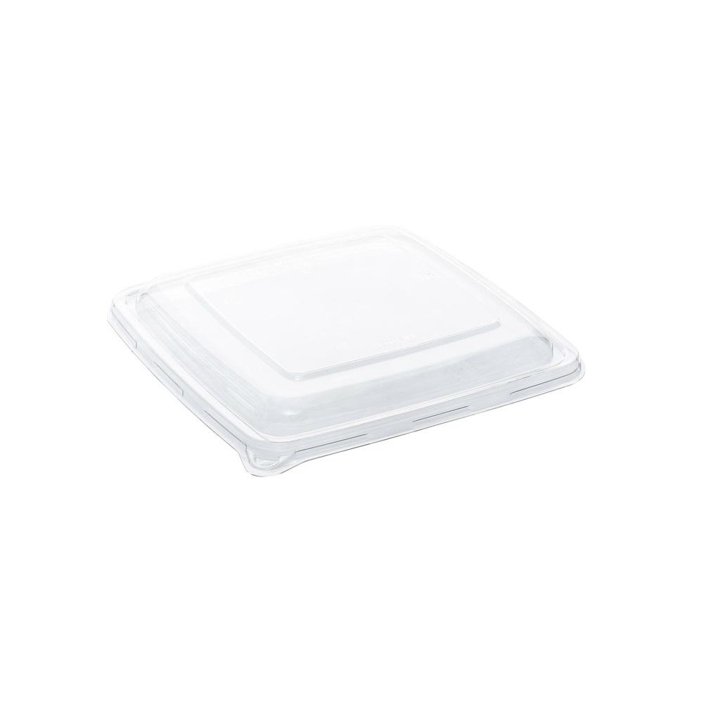 RPET deksel vierkant voor suikerriet menubox