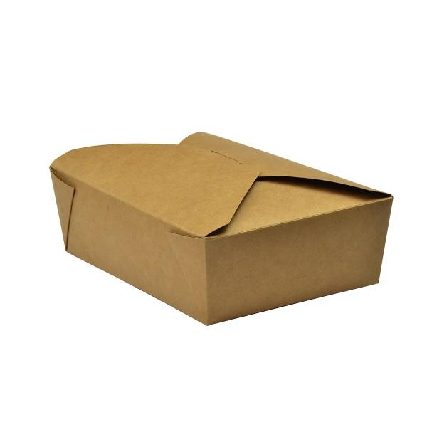 Kraft PLA coated take away box 1800 ml