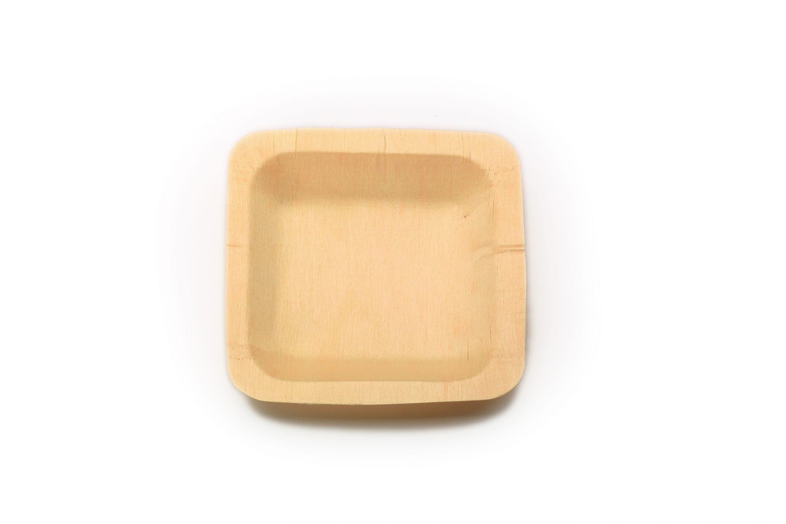 Schaaltje hout vierkant (FSC®) 110 x 110 mm