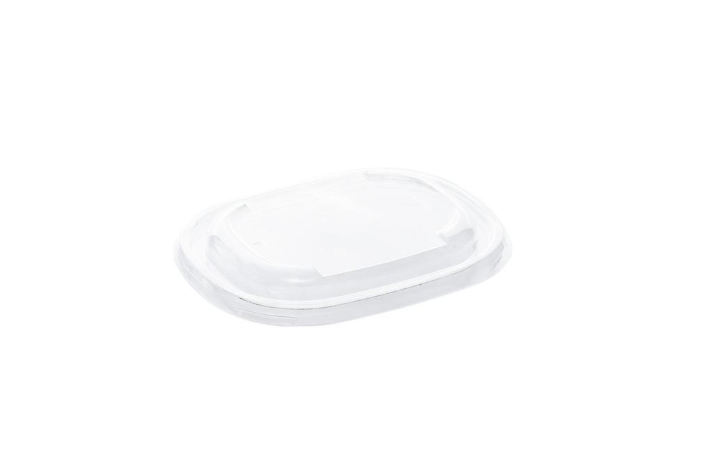 Rpet lid Eco street oval saladebowl 19 bij 15 cm