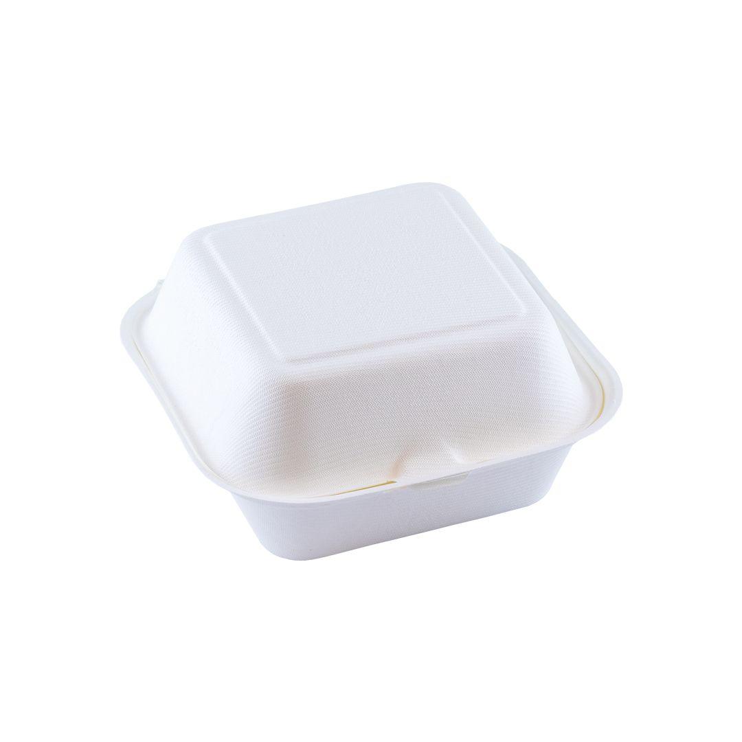 Hamburger box 450 ml 150 bij 150 en 84 hoog wit