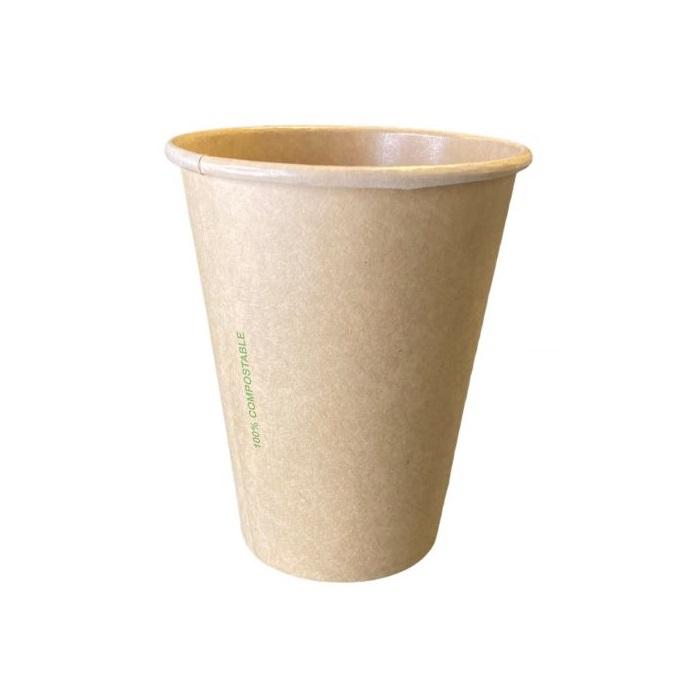 Kraft PLA koffiebeker 8oz 240ml 80mm Ø