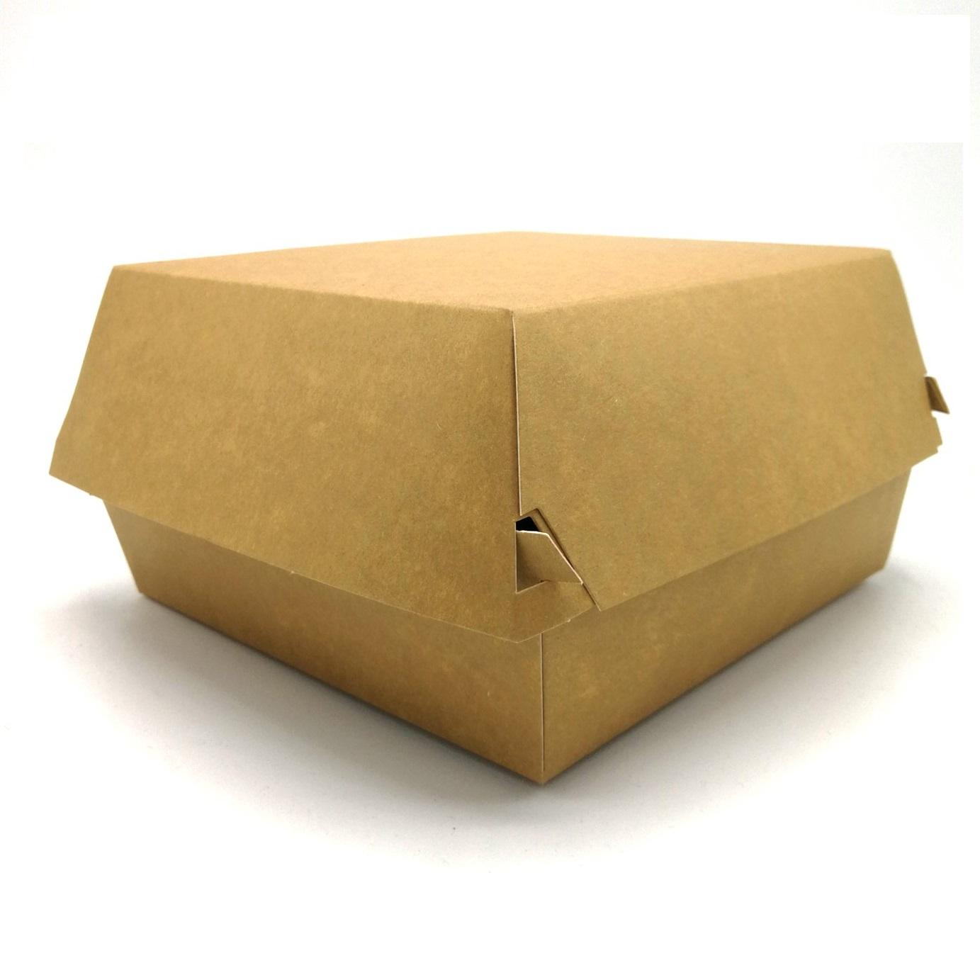 Kraft hamburgerbox 150x150x90mm biodisposables