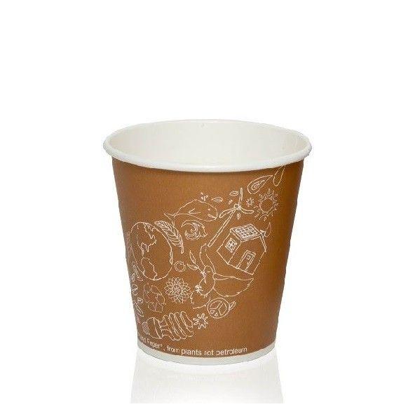 FSC® kartonPLA koffiebeker 8oz 240ml 80mmØ Leaf
