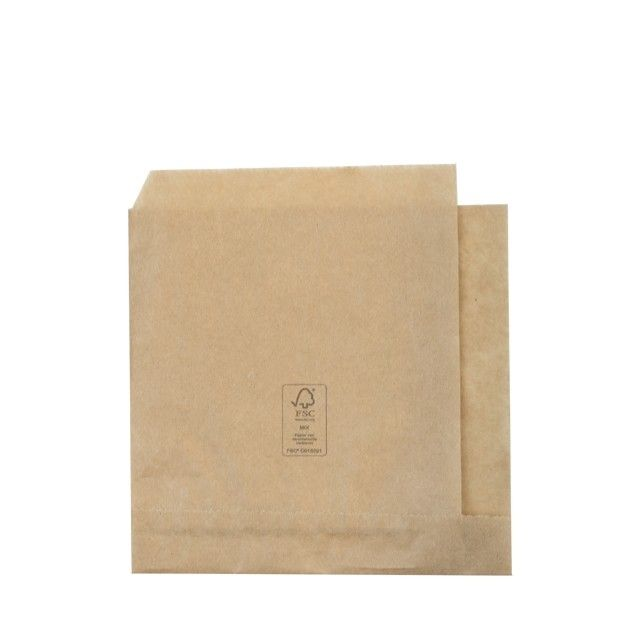 FSC® papieren hamburgerzakje 15x16cm