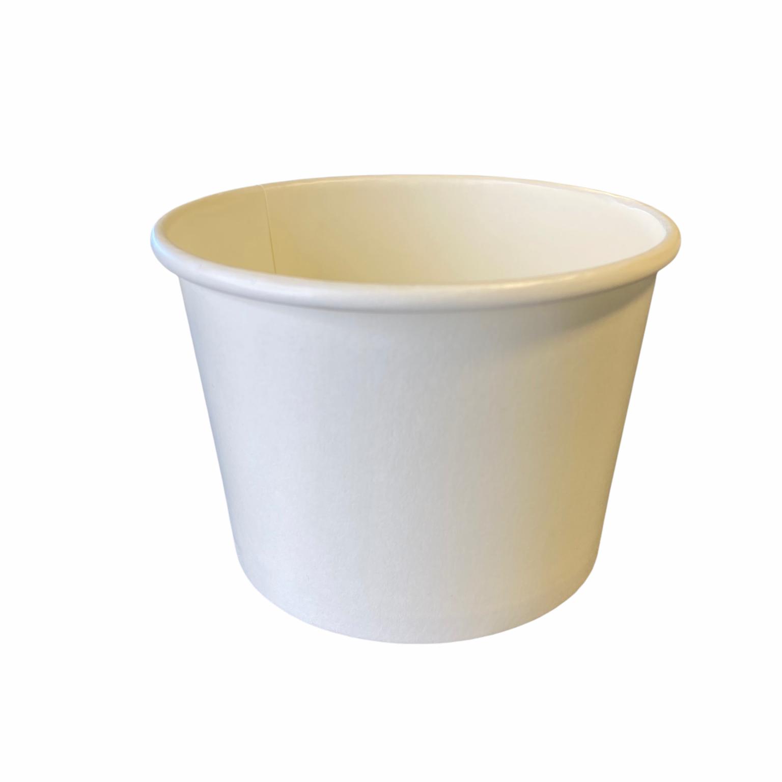Karton PE ijsbeker wit 360 ml 12 oz 99 mm Ø 70 mm hoog
