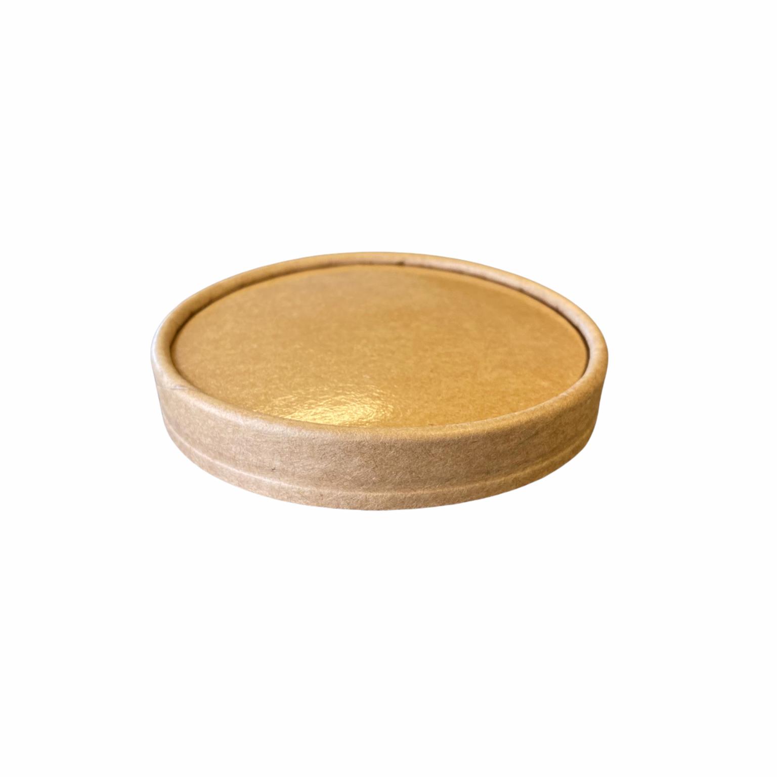 Kraft deksel voor kraft PE bowl 200 en 250 ml